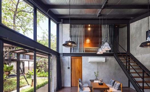 Desain Rumah Konstruksi Baja WF